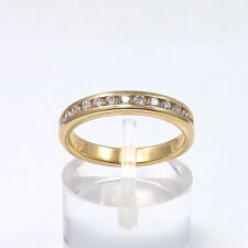 14K Gold .25 ctw Channel Diamond Wedding Anniversary Band Ring Sz 5