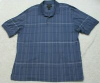 Van Heusen Blue White & Black Polo Shirt XL Cotton Short Sleeve Extra Large Mans