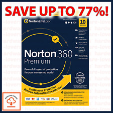 ✅ Norton 360 Premium Deluxe 2020 | 3-10 Devices | 1-2 Year Licence | VPN + More!