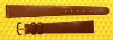 13mm Vintage OMEGA  Leather Watch Strap Band BROWN Swiss Made <NWoT>