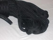 Double Braid Polyester Black 5/16x100 feet saiboat lines halyards flagpole rope