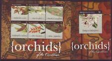 BEQUIA 2011 ORCHIDS OF CARIBBEAN SHEETLET 4 +  MINISHEET Part 2 MINT NEVERHINGED