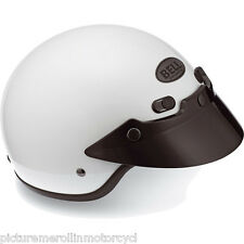 BELL SHORTY LOW OPEN FACE GLOSS WHITE HELMET HARLEY CHOPPER VINTAGE COOL SCOOTER