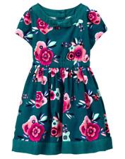 NWT Gymboree Ready Jet Go! Corduroy Green Floral Dress Sz: 5T