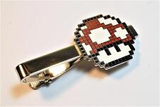Super Mario World Bros RED MUSHROOM PIxel SNES Nintendo Suit Tie Bar Clip