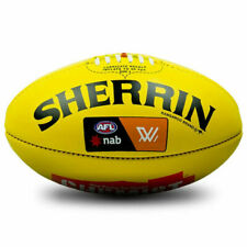 Sherrin Official Boxed AFL Leather Game Ball - Yellow