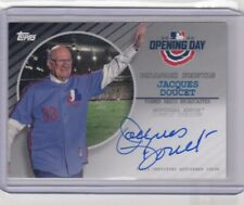 2020 Topps Opening Day JACQUES DOUCET Autograph Auto Expos Broadcaster SSP