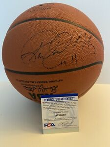 Karl Malone Autographed/Signed Basketball COA PSA - Official NBA Game Ball