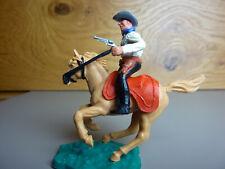 Timpo / Cowboy mit Pistole auf seltenem kleinen Pferd / UT schwarz, OT weiß