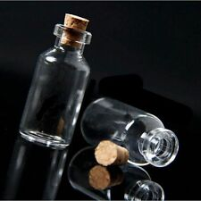 10pcs 5ml Clear Empty Small Wishing Message Glass Bottles Vial DIY With Cork