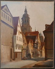 Quadro Antico Olio Paesaggio WINTERBERG Germania JACQUES CARABAIN XIX