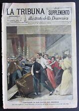 1896 MONTENEGRO PRINCIPE NIKITA Brasile San Paolo odio contro italiani emigrati