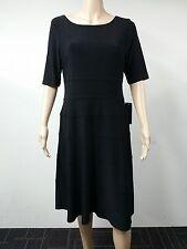 NEW - Jones New York - Size 12 - Jersey Banded Swing Dress - Black - $124