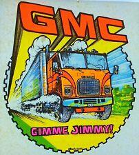 Original Gmc Gimme Jimmy! Iron On Transfer Truck Dayglo