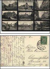 1928 Gruss aus MÖNCHENGLADBACH 9-fach-AK ua. Bahnhof, Hindenburg-Strasse, Post