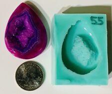 #55 Silicone Druzy Mold   Crystal Quartz Rock Cluster Geode Gem Resin