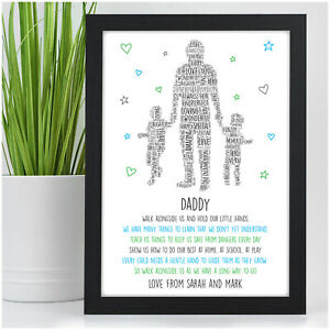 PERSONALISED Daddy Dad Grandad Fathers Day Gifts from Daughter Son 1, 2, 3 Kids
