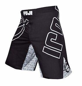 Fuji Inverted MMA BJJ No Gi Performance Competition Fight Board Shorts - Black