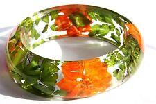 Handmade Real Flower Botanical Garden Resin Bangle Bracelet.{34}zfz