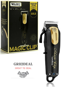 Wahl 8148-100 5 Star Series Magic Clip Cord/Cordless Clipper Black & Gold NEW