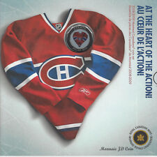 2009 NHL Montréal Canadien Coin Set With Commemorative Coloured Loonie Jersey