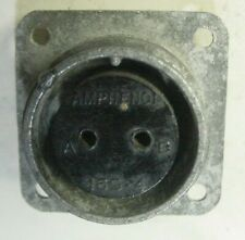 """WWII Military Connector 2 Pin Female Amphenol  16S-4, AN-3102- 16S-4S 1-1/4"""" SQ,"""