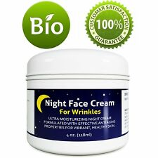 Night Face Cream 4 Oz | Collagen Boost Moisturizing For Wrinkles | 100% Natural