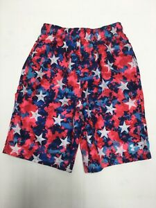 Under Armour Boys Youth Large Swim Trunks Shorts NWT Multi Color