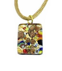 Murano Glass Pendant Murano Glass Jewellery Handmade Glass Pendant 2cm x 1.5cm