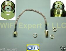 6 INCH RP-SMA Male to RPSMA Female Extension Cable RG316 High Quality LOW LOSS