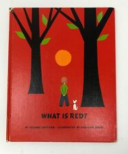 WHAT IS RED? Vintage Suzanne Gottlieb Illustrated by Vladimir Bobri1961
