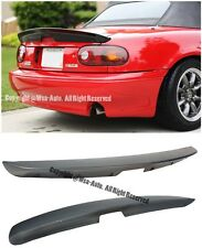 For 90-97 Mazda Miata NA KG WORKS Style ABS Plastic Rear Trunk Spoiler Wing Lip