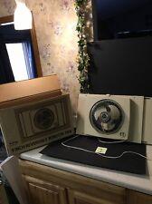 "Vintage Galaxy Window Fan 2 speed Reversible Works 9"" Blades 2122 Exhaust Intake"