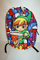 Nintendo Legend of Zelda Wind Waker HD Stained Glass Backpack NEW 2015 Bioworld