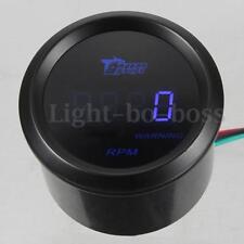 "2"" 52mm Blue LED Digital Tacho Tachometer Gauge Meter 0-9999 RPM Car Auto Motor"