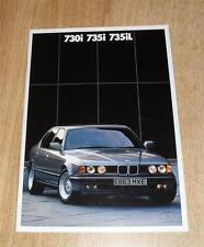 BMW 7 Series Brochure E32 1987 - 730I 735I 735IL