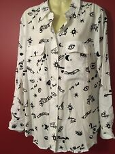 MAX JEANS Women's Uptown Gal Button Up Blouse - Size Large - NWT $59