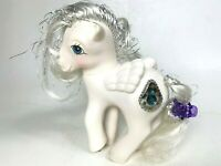 Vintage 1987 My Little Pony Princess Tiffany Pegasus - White Pony Hasbro Toy