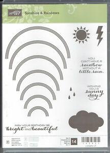 Stampin Up Sunshine & Rainbows Photopolymer Stamp Set with Framelits