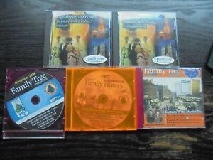5 Genealogy CDs