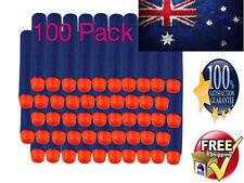 100 Toy Gun Bullets Darts Round Head NERF N-Strike Blasters Blue Nurf Refills