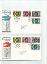 collection of 4 1977 silver jubilee tour first day covers