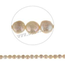 Natural Coin Freshwater Pearl Jewelry Making Loose Gemstone  Beads 8-9mm