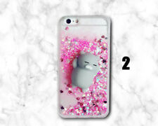 Bling Glitter Pink Quicksand 3D Squishy lazy cat Soft Dynamic Back Cover Case A