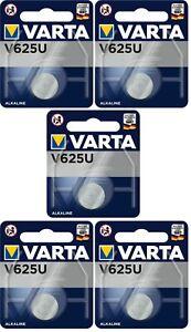 5 x Varta V625 U LR9 625 EPX625 4646 Knopfzelle 5 x 1ner Blister NEU