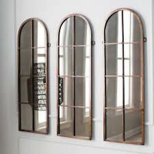 3 Restoration Antique Hardware Arch Wall or Dressing Mirror Windowpane Horchow