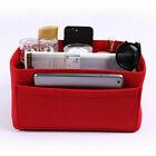 Womens Felt Organizer Handbag Travel Bag Insert Liner Purse Organiser Pouch New