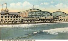 "Photo 1916 Seal Beach, California ""Joy Zone Rollercoaster - Bathers"""