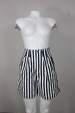 vintage the limited shorts 4 24/25 90's striped cotton blue white high waist