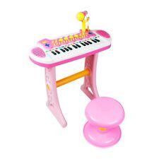 Girls Electronic 31 Key Keyboard Piano Toy Record+ Microphone Stool children kid